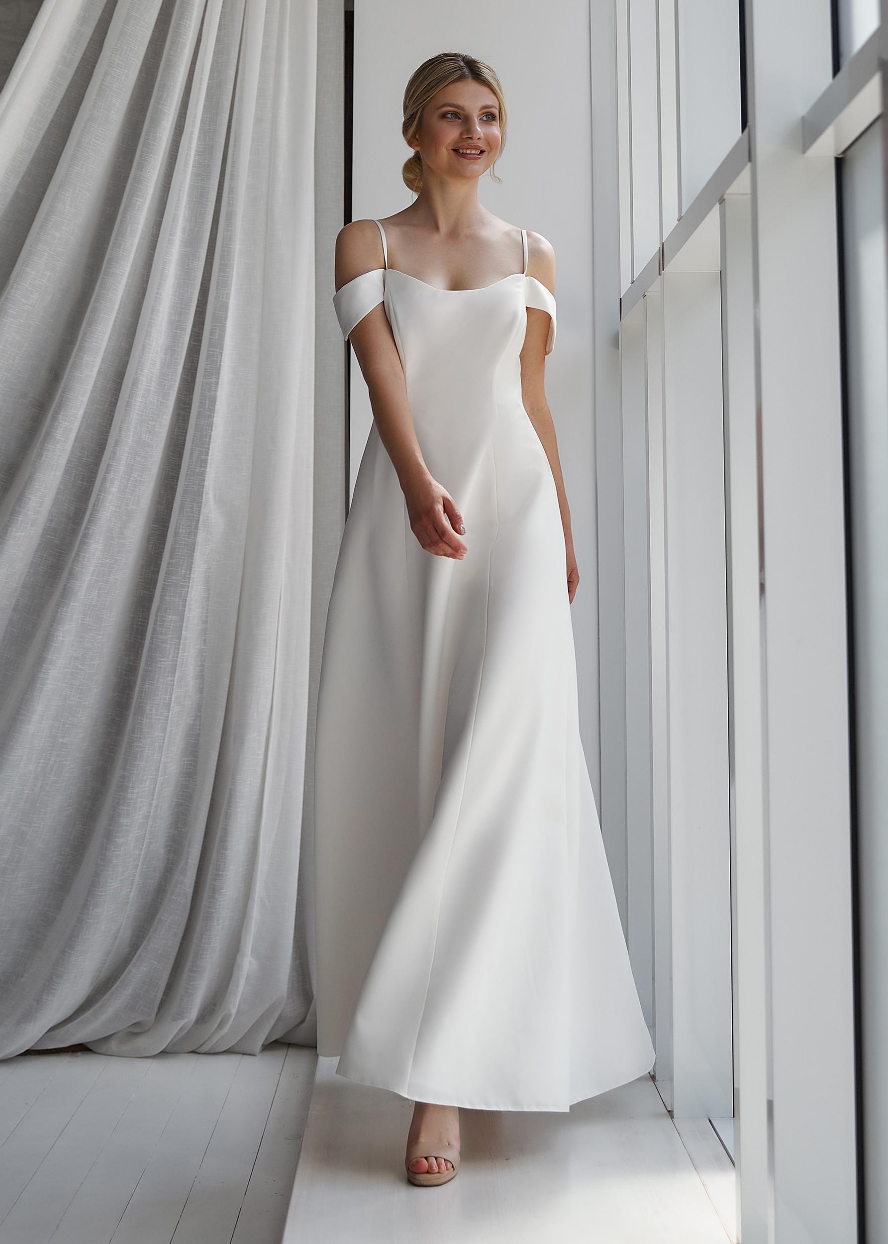 белое короткое платье на роспись | Vero