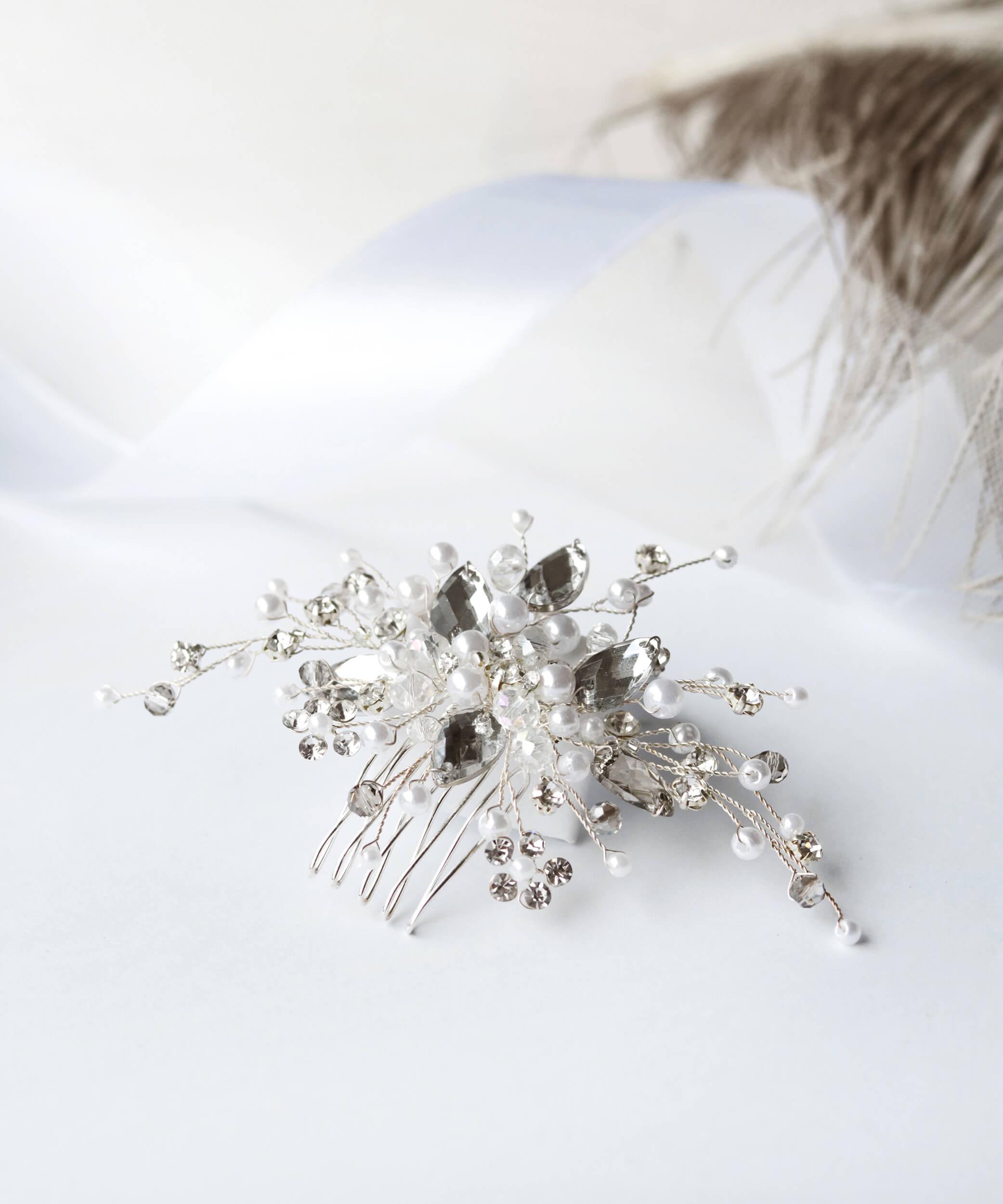 гребень для волос свадебный | Vero