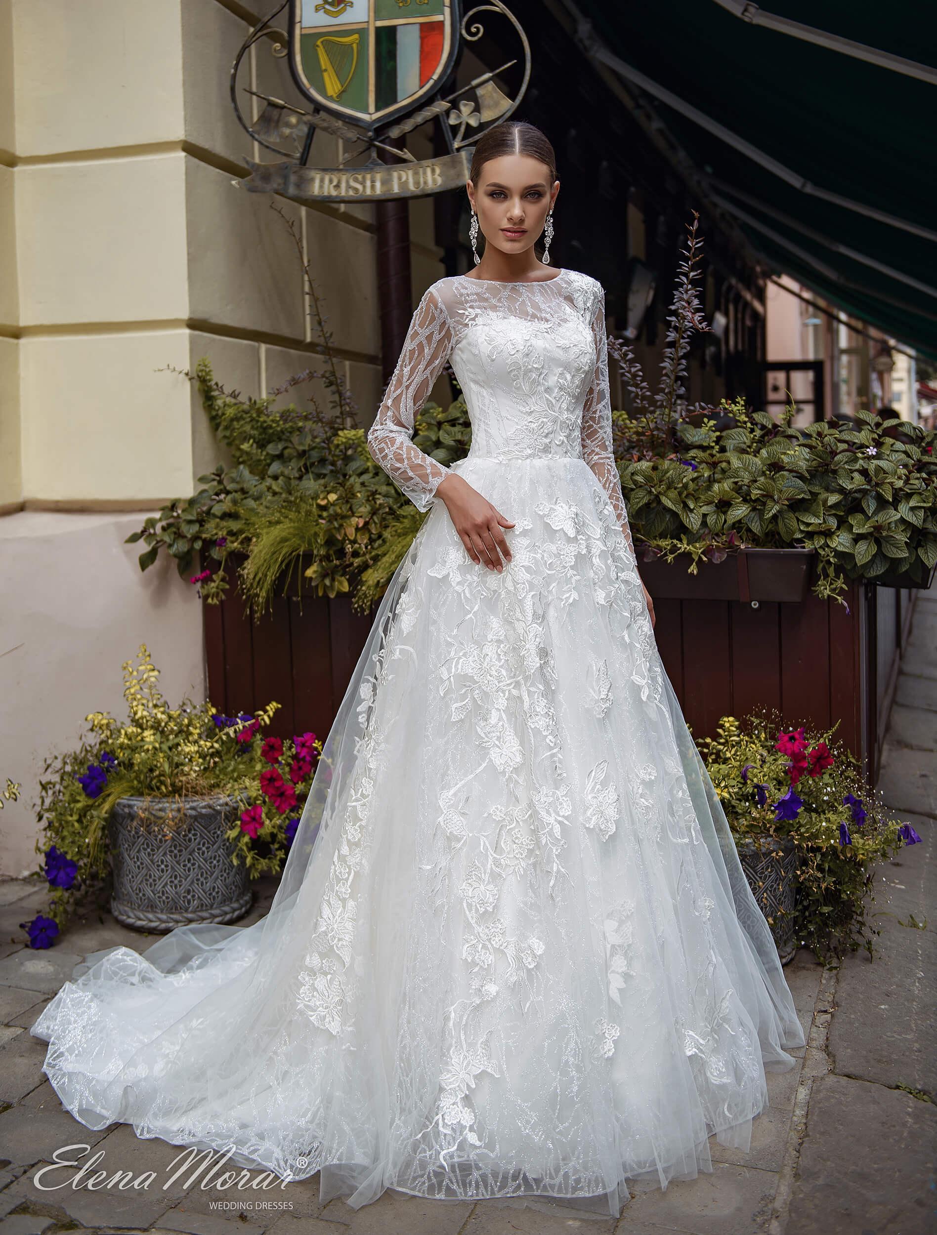 закрытые свадебные платья с длинными рукавами (1) | Vero