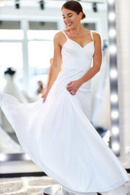 простое элегантное свадебное платье   Vero