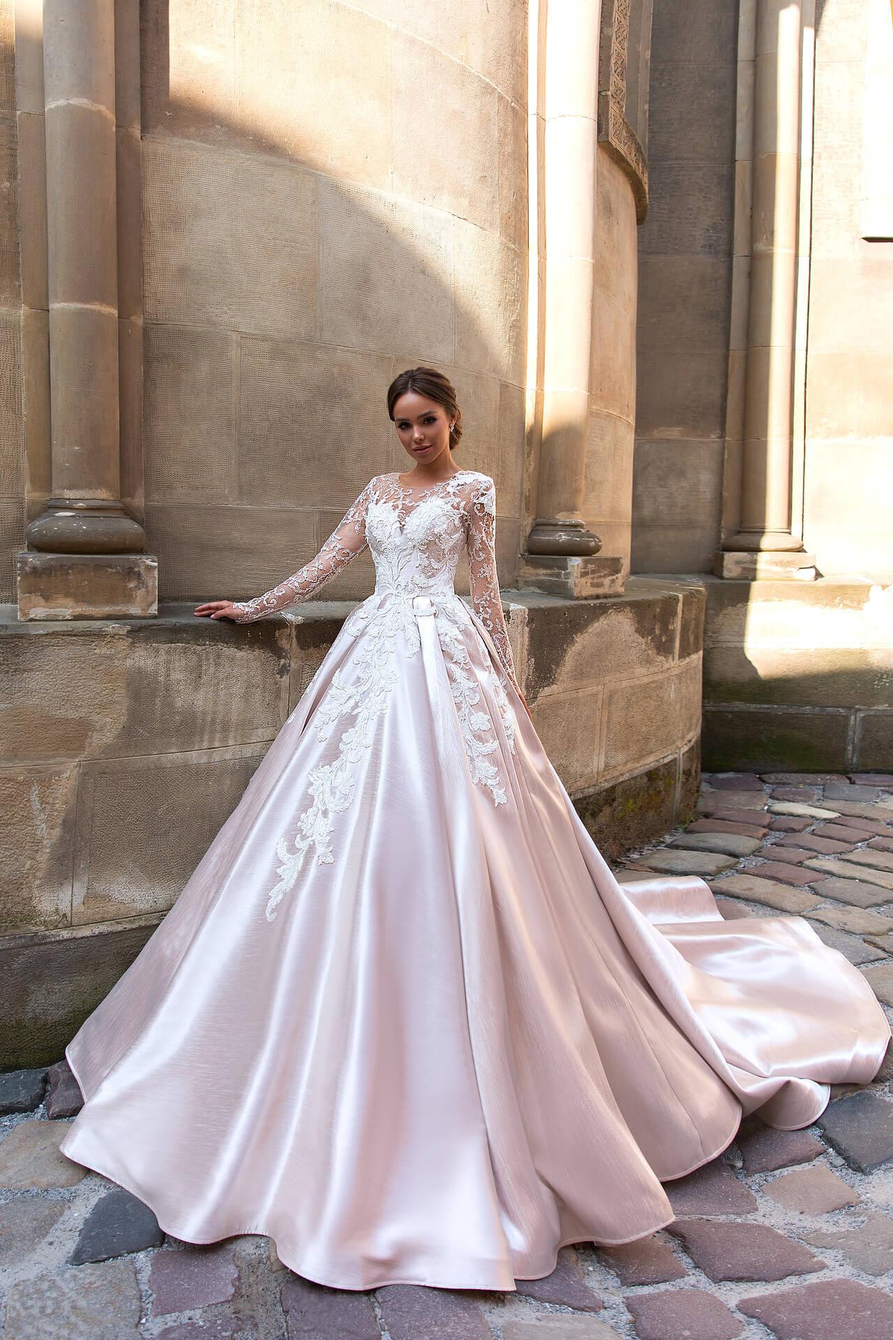 пышные свадебные платья с рукавами | Vero