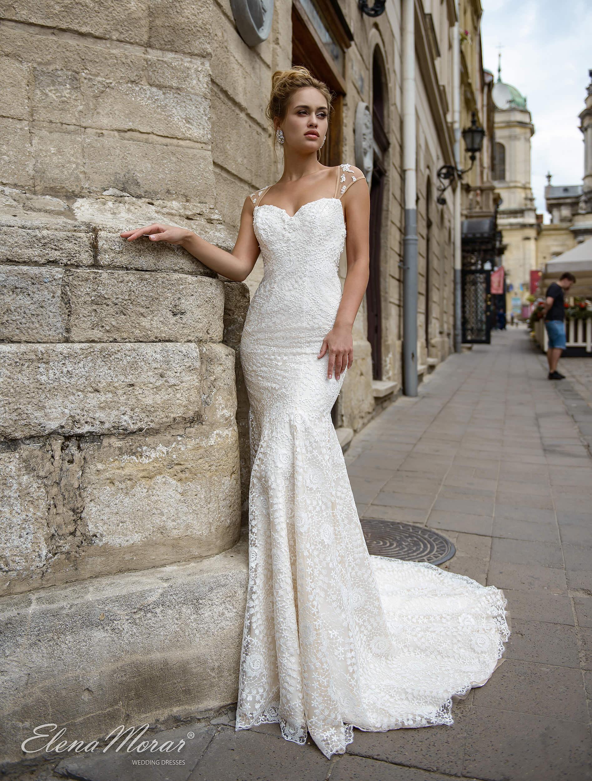 свадебное платье рыбка со шлейфом (1) | Vero