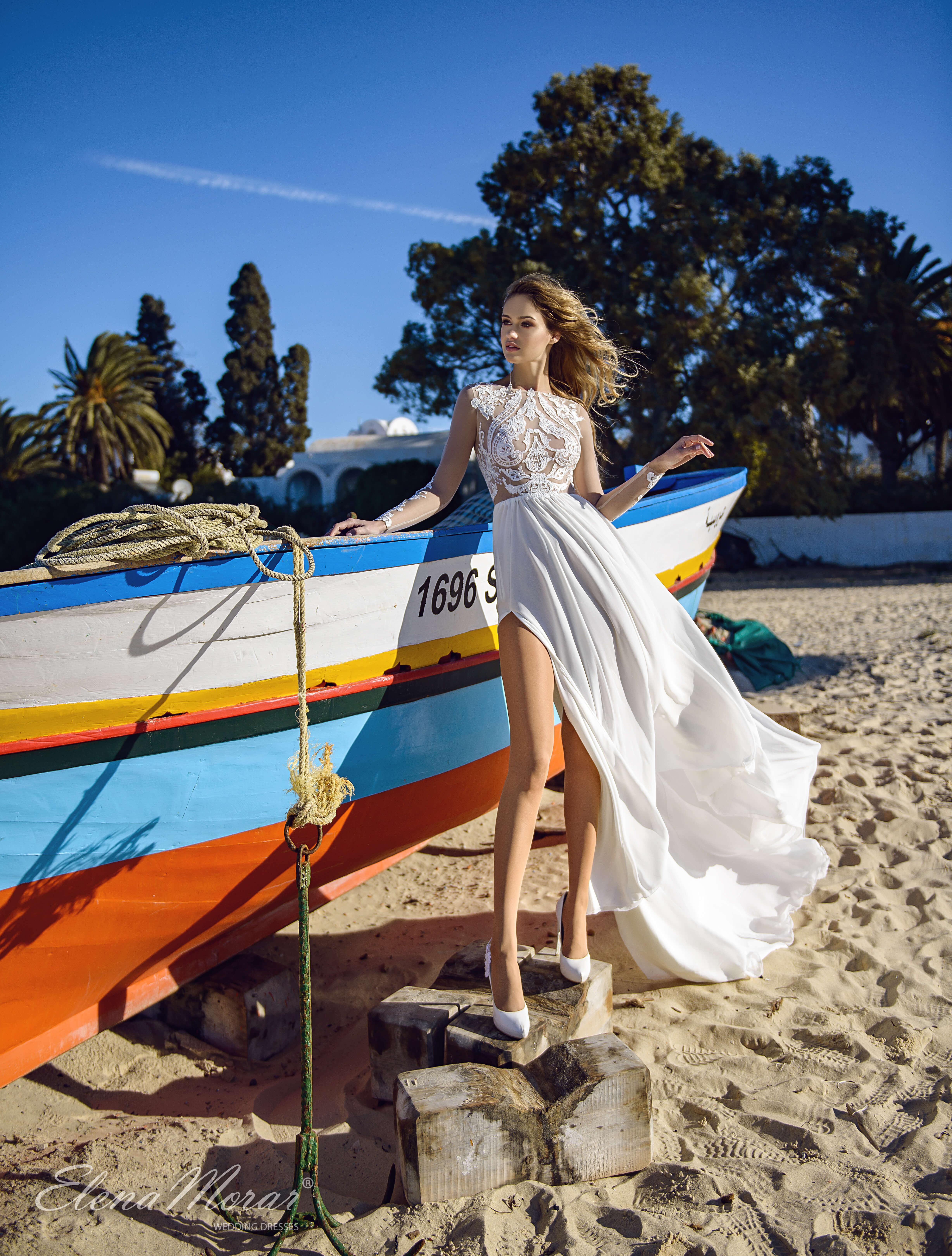свадебное платье с открытыми ногами | Vero