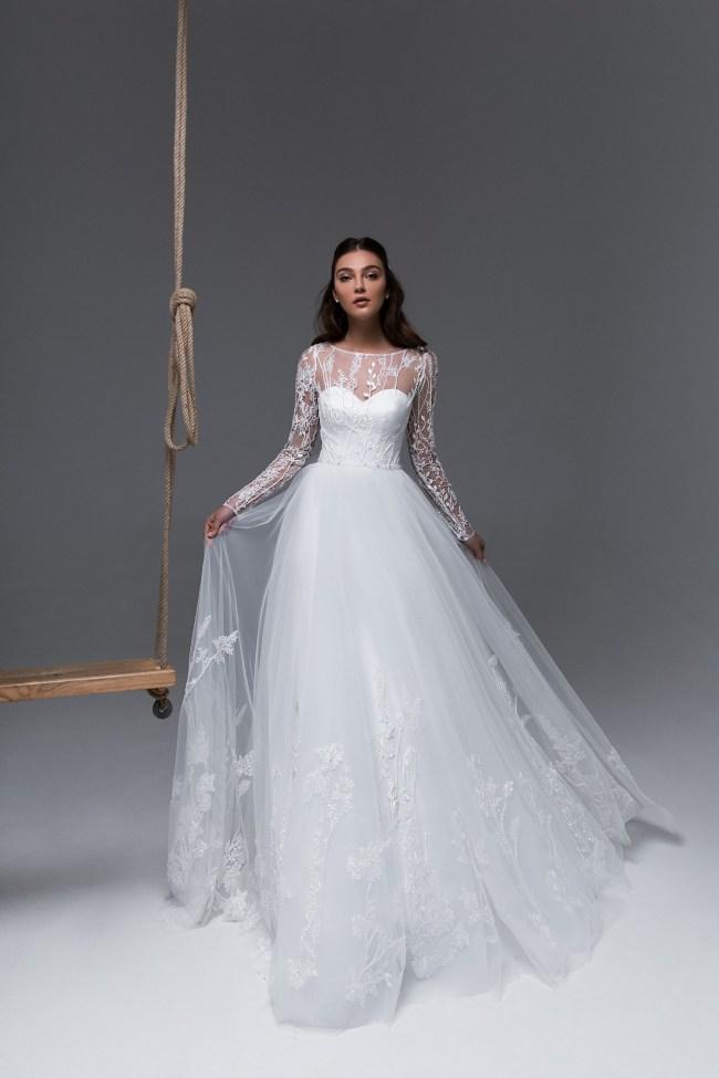свадебное платье с рукавами   Vero
