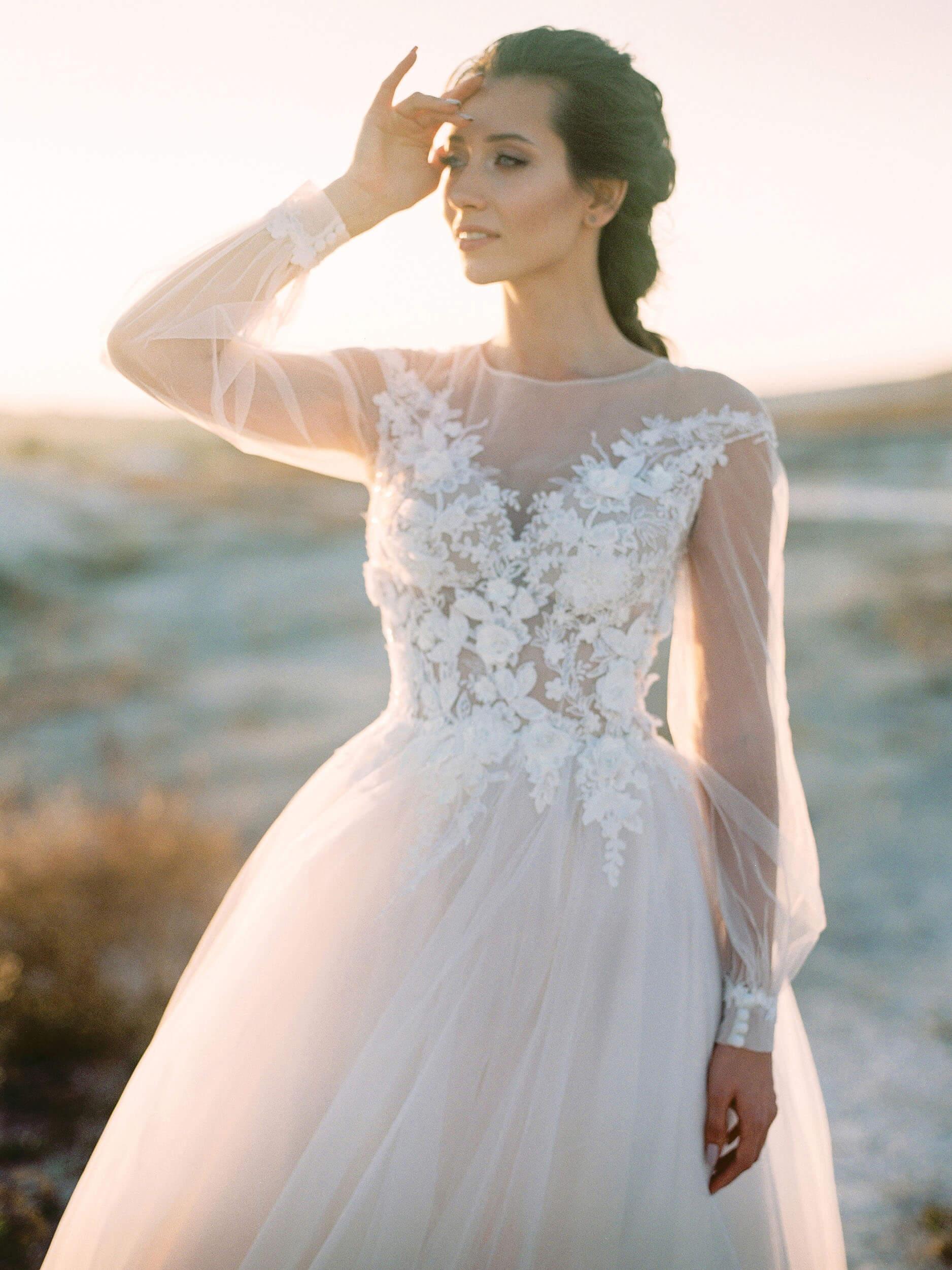 свадебное платье с фатиновой юбкой(1) | Vero