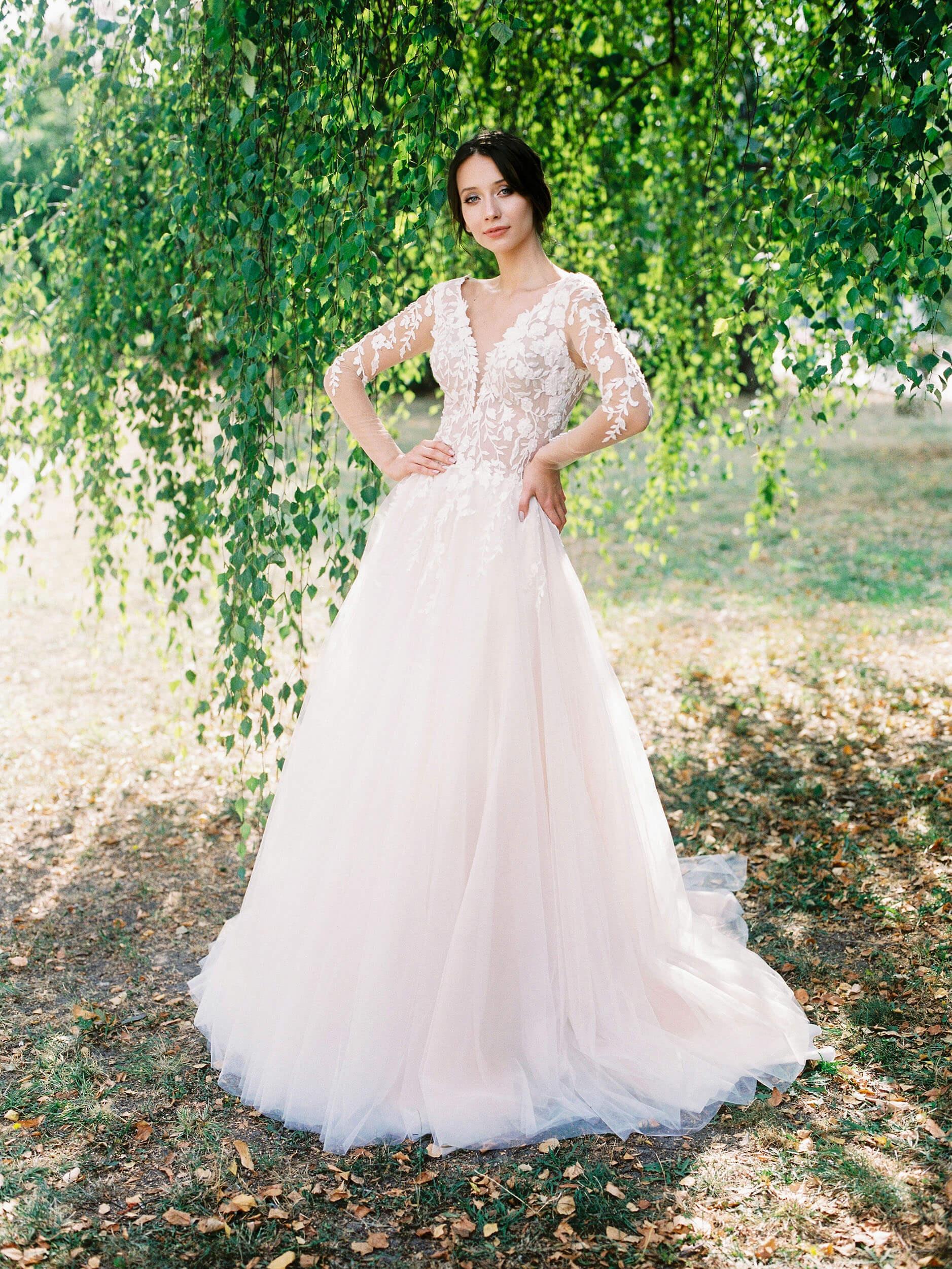 свадебное платье цвета пудры(1) | Vero