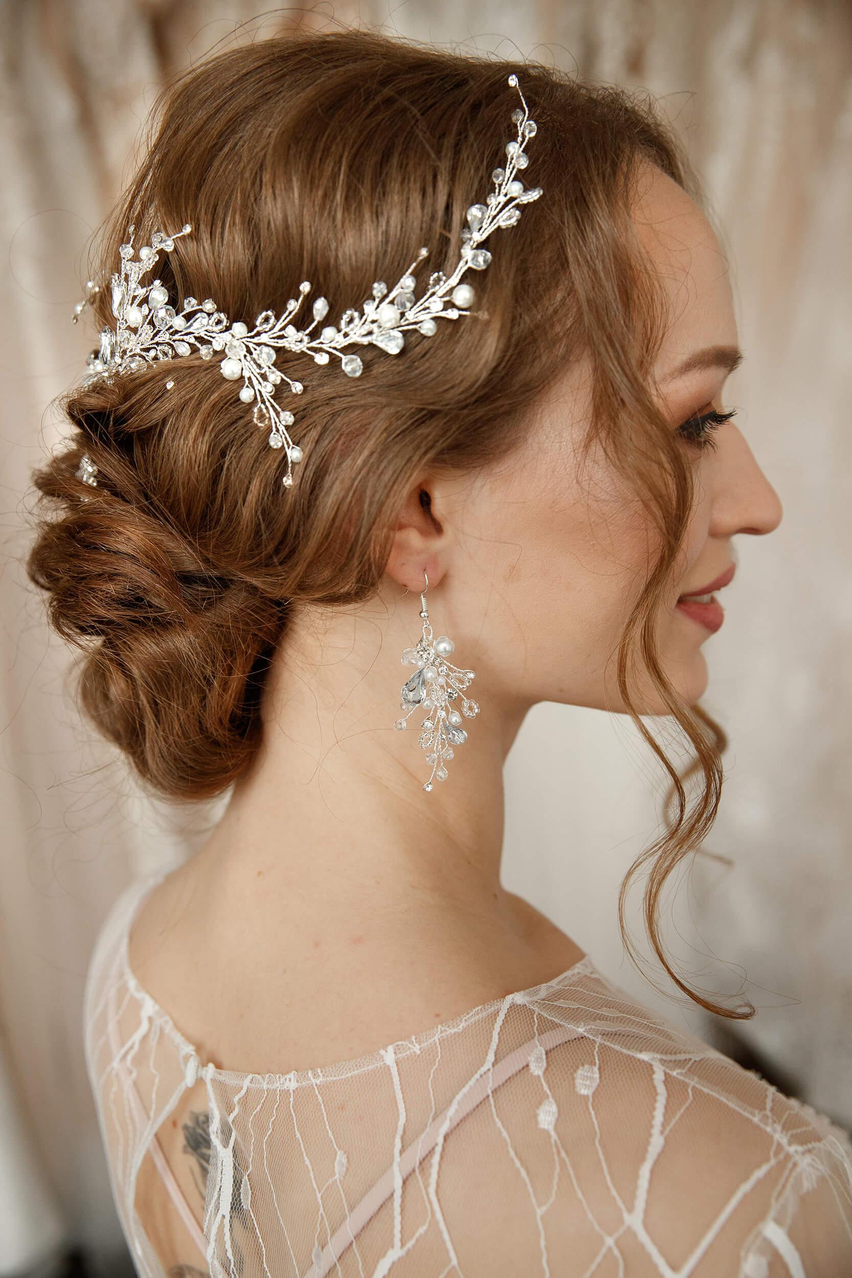 свадебные украшения на волосы | Vero