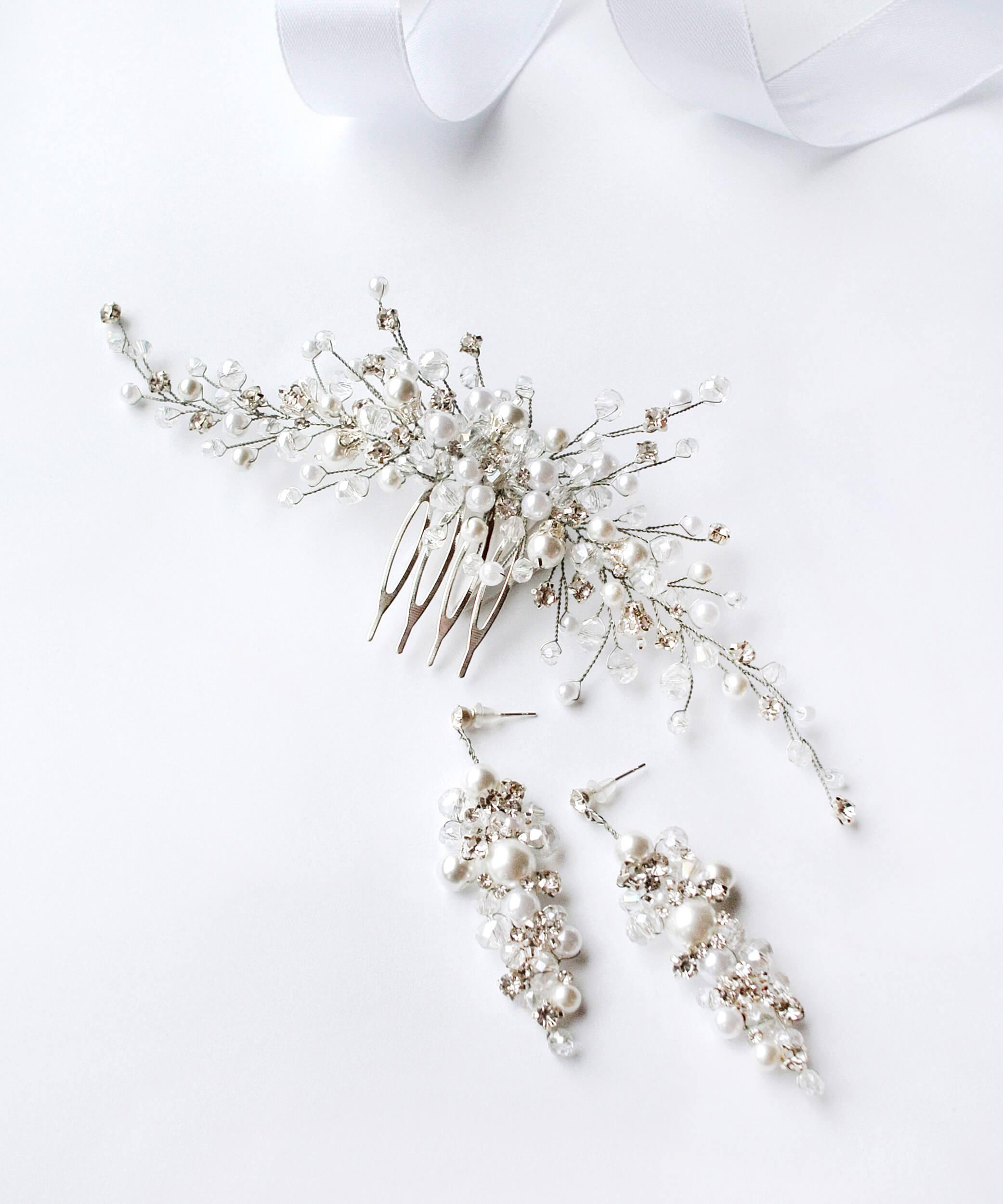 украшения в волосы для невесты | Vero