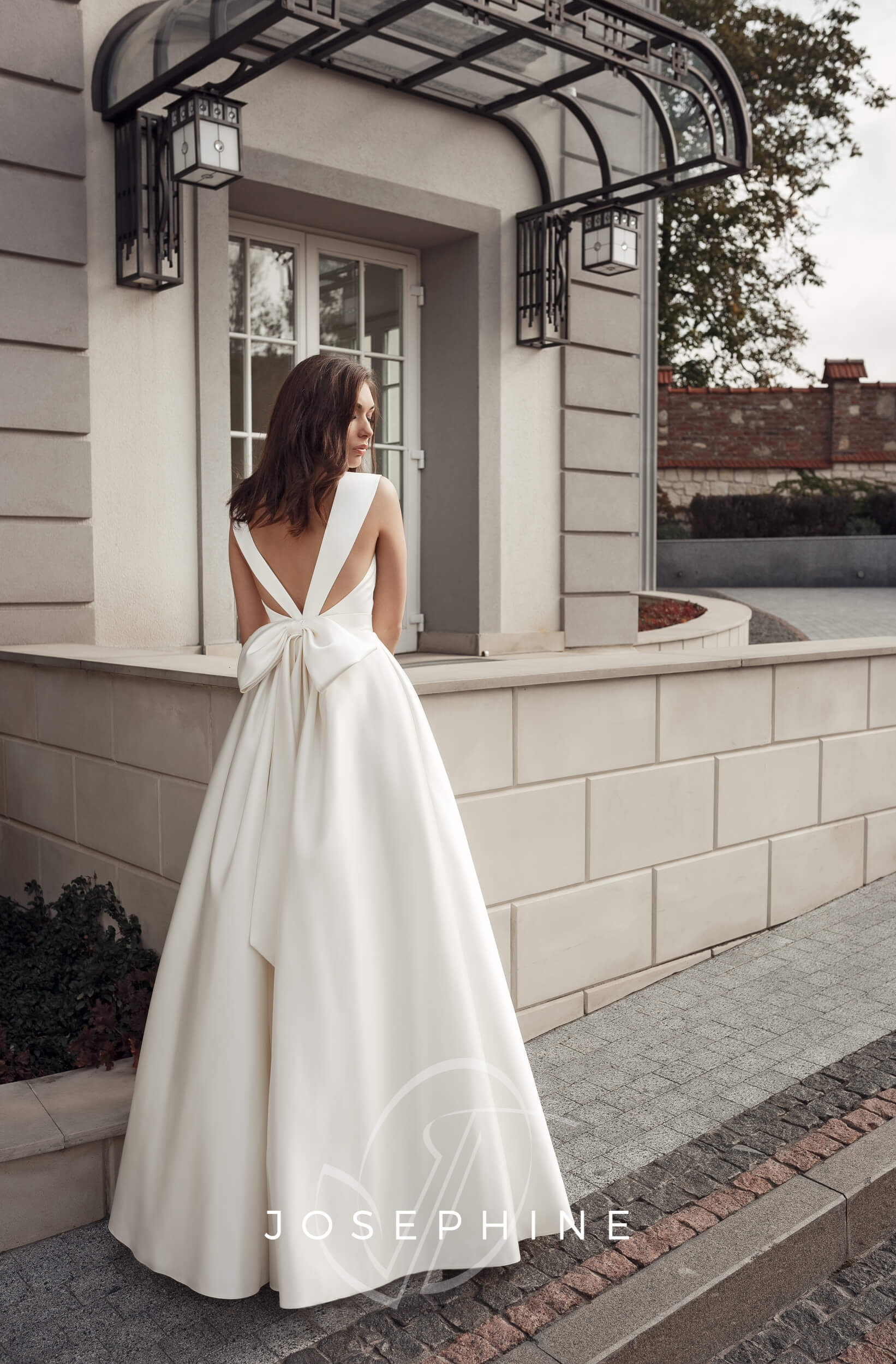 свадебное платье из атласа | Vero