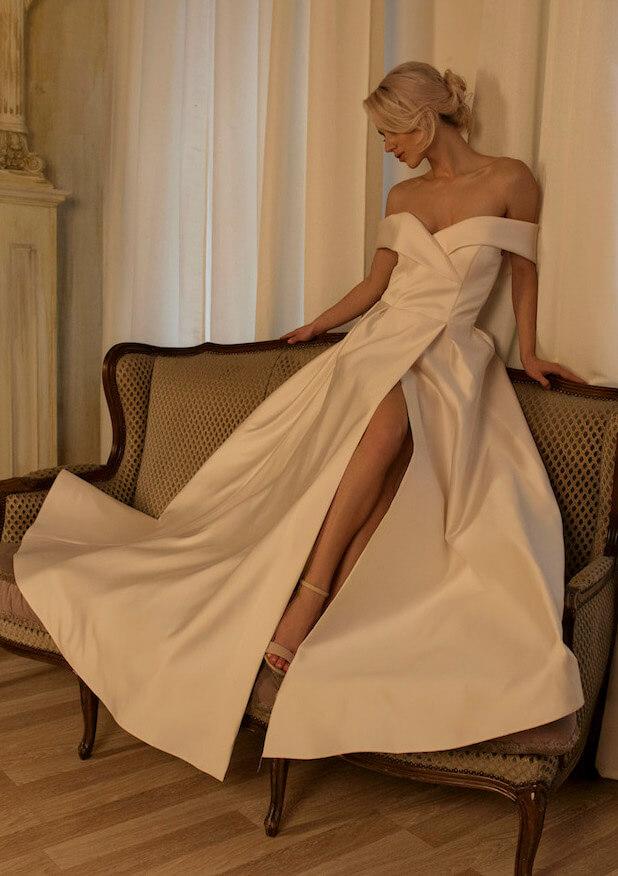 свадебное платье с разрезом | Vero
